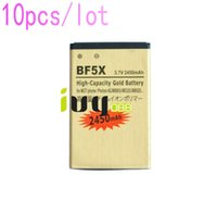 Wholesale Defy Battery Bf5x - 10pcs lot 2450mAh BF5X Gold Replacement Battery For Motorola Photon 4G MB855 ME525 MB525 Bravo MB520 ME863 XT531 xt883 Defy mini Batteries