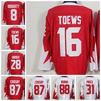 Wholesale Apparel World - #16 Toews 2016 World Cup Team Olympic Hockey Jerseys Ice Hockey Apparel Brand Olympic Hockey Wears Mix order All Teams Players