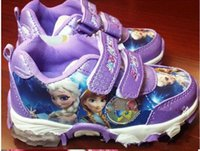 Wholesale Girls Shoes 33 - 15% off!HOT SALE! 2016 new FROZEN soft bottom sneakers.28 - 33 yards, double casual shoes.Children walking shoes.PU baby shoes 1pair