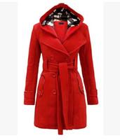 abrigo de mujer a medida al por mayor-chaqueta de mujer caída de la nueva moda de cultivar la moralidad cruzada de algodón de doble botonadura abrigo a medida