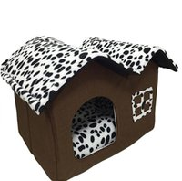 Wholesale Canopies For Beds - Dog House New PP Cotton Folding Dog Bed For Large Dog House With Mat Pets Product Cats House New Style Free Shipping