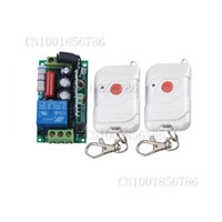 Wholesale Remote Switch Case - 220V 1CH Wireless Remote Control Light Switch System +Case +2PCS transmitter With Battery