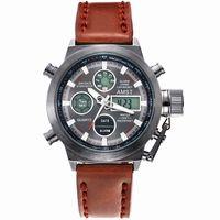 dijital analog dalış saati toptan satış-Saatler Erkekler Lüks AMST Marka Benzersiz Vogue Dalış Yüzme Dijital LED Kuvars Açık Spor Askeri İzle Relogio Masculino Saatı