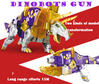 Wholesale Toys Dinosaurs Dragon - Transformable Toy Gun Can Shoot EVA Soft Bullet Change Into Dinosaur Dragon Gift For Boy dinobots gun Soft bullet Triceratops