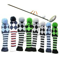 Wholesale Oem Socks - Free shipping OEM   wholesale Golf Club Heads Cover 1 3 5 one Set NEW GOLF Head Covers Knit Sock Navy Golf Club Cover Headcovers 5 colour
