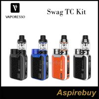 Wholesale Gt Portable - Vaporesso Swag Kit 80W Swag TC Mod with NRG SE Mini Tank 3.5 2ML GT Coil Single 18650 Revolutionary IML Design Portable Size 100% Original