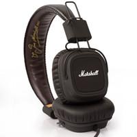Wholesale computer hi fi resale online - 2016 Marshall Major headphones With Mic Deep Bass DJ Hi Fi Headphone HiFi Headset Professional DJ Monitor Headphone