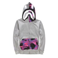 Wholesale thick cardigan sweaters for men - Evil Shark Head Camouflage Increase sweaters for Men Women Dress Leisure Time hoodie sweatshirts tracksuits brands Sportswear outdoor jacket