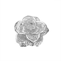 Wholesale valentine ring rose for sale - Low Price Hot Fashion Jewelry Valentine Rose Ring silver Size can adjust Free Shiping