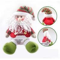 ingrosso nuovi oggetti in plastica-Plastica Nuovo simpatico regalo di Babbo Natale / Pupazzo di neve Natale Barattolo di caramelle Natale Zuccheriera Articolo di Natale Decorazioni per interni Fd 33