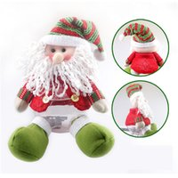 şeker kavanozu dekorasyonu toptan satış-Plastik Yeni Sevimli Noel Baba / Kardan Adam Hediye Noel Şeker Kavanoz Noel Şekerlik Noel Öğe Kapalı Dekorasyon Fd 33