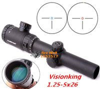 Wholesale Ar15 Rifles - DHL 2015 Visionking 1.25-5x26 hunting rifle scope, perfect for .223 AR15 M16 Three Pin Reticle Riflescope