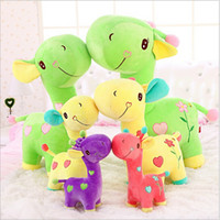 Wholesale Little Giraffe Toys - 1pcs 35cm 2015 Hot sale Lovely Giraffe Plush Toy Love Deer Soft Little Baby Animal Doll Colorful Adorable Plush Toys Gift
