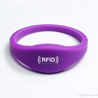 Wholesale Hot sale factory Passive RFID Adjustable RFID fudan Silicone PVC Coated Paper ABS Silicone Wristbands for events