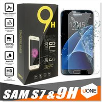 Wholesale Iphone A9 - For iphone X 8 Samsung S7 Tempered Glass Screen Protector for Samsung S5 S6 A7 A9 Grand Prime screen film protection with 9H Hardness 0.26mm