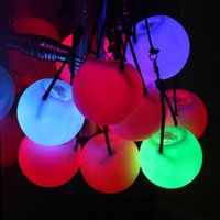 Wholesale flashing ball rope online - Light green vinyl flashing vinyl ball color luminous rope led floating ball thrown round ball