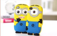 Wholesale Despicable Cover Case Lg - iRepair Cute Cartoon Despicable Me2 Cute Yellow Men Minions Me Soft Silicone Phone Case Shell Cover for LG L90 G2 G3 G4 G5