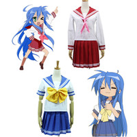 Wholesale Lucky Star Uniform - Anime Lucky Star Konata Izumi Hiiragi Kagami Hiiragi Tsukasa Cosplay Costume School Uniform Clothes Women Sailor Suit