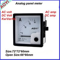 Wholesale 72 Analog and Digital Display Type and Single Phase Phase panel meter HN DCA