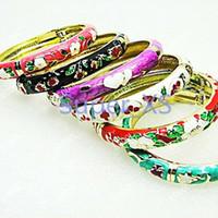 ingrosso braccialetto unico dell'anello-Adatti i braccialetti unici del Cloisonne di modo della Cina per i lotti in lotti interi LR097 dei gioielli delle ragazze delle donne Trasporto libero
