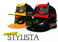 Wholesale Dc Comics Hats Batman - Batman VS Superman Vs Batman American DC Animation Comic Superhero Cartoon Fans baseball snapback cap hat Hip-hop hat Cosplay Hats