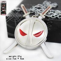 erkekler için halka tasarımları toptan satış-Deadpool Film X-men Maske alaşım Anahtarlık kolye DHL 2 Tasarım yeni Çocuk Süper Kahraman deadpool anahtarlık bebek Anahtarlık kolye B