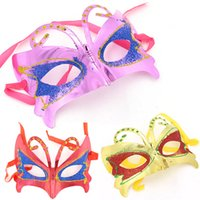 Wholesale Child Butterfly Masquerade Mask - Masquerade Mask Butterfly Dance Mask Half Face Mask 5 Colors Suit for Women Girls Costume Party Mask for Halloween Christmas Day