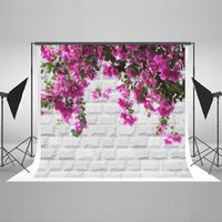 Kate 7x5ft Brick Backdrop Wall Red Flowers Photographie Backdrops pour Photographe Cotton Pas de rides Photo Booth Props HJ03607