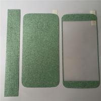 iphone ön derileri toptan satış-Tam Vücut Glitter bling Ekran Koruyucu Sparkle işıltılı Tüm Film Cilt Parlak Sticker ön Arka iPhone 4 4 S 5 5 S 6 6 7 artı