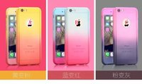 Wholesale Iphone Glass Change - 360 Degree Full Body Protection Hard PC Case For Iphone 6S 6 Plus SE 5 5S Back Front Tempered Glass Dual Change Gradient Color Skin Cover