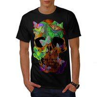 Maglietta Skull Head Sugar Art Uomo S-3XL NEW | Wellcoda New Magliette Funny Tops Tee Shirt Retro Top Tee