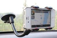 langarm-auto telefonhalter großhandel-Universal Langarm Windschutzscheibe Handy Autohalterung Halter für Ihr Handy Ständer für iPhone Samsung GPS MP4