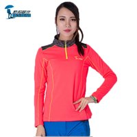 Wholesale Womens Hiking Shirts - Wholesale-Protective Brand New Long Sleeve Quick Dry T Shirts Women Outdoor Sports Run Climbing Breathable Coolmax Womens Hiking T-shirt