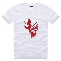 Wholesale White Ichigo - 2017 new fashion BLEACH Kurosaki Ichigo hip hop Printed Mens T Shirt Fashion Men Tshirt Short Sleeve Cotton T-shirt Tee