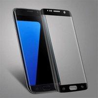 s6 kenarı paketi toptan satış-3D Kavisli Temperli Cam Galaxy S7 kenar S7 S6 kenar S6 kenar Artı Perakende Paketi ile Ön Ekran Koruyucu 10 adet / up