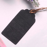 10 Small Blackboard Tags scallop Rectangle 8x4cm Party Gift Mini Pendentif Tableaux noires Lolly Buffet Chalkboards