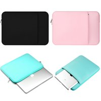"""Wholesale Drop Laptop Sleeves - Laptop Sleeve Bag Case Soft inside Cotton Fabric Protective Bag For MacBook Air Pro 11"""" 12'' 13"""" 15"""" 15.6"""""""