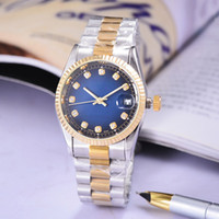Wholesale roman bronze - relogio 36MM High Quality daydate Mechanical Watch Roman Digital Luxury Watch Gem Diamond Watches Fashion Gold Watch luxury brand