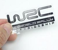 Wholesale Wrc Car Stickers - Free Shipping Wrc metal thin modified car stickers wrc emblem metal etie