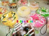 Wholesale Donut Mobile - Wholesale-Cute cartoon Donut II squishy charm   mobile phone strap   Wholesale