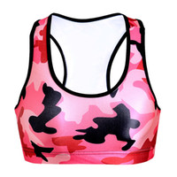 Running Sport BH Body Sculpting Fitness Yoga Weste 3D Print Slim Tank Tops Elastische Ärmellose Kleidungsstück Push Up T-Shirt Camo Red LNSsb