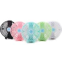 mini taşınabilir el fanları toptan satış-Kolu Usb Fan Katlanabilir Kolu Mini Şarj Elektrikli Fanlar Kar Tanesi El Taşınabilir Ev Ofis Hediyeler Için PERAKENDE KUTUSU 6 Renkler