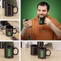 Wholesale Ceramic Cup Temperature Changing - Battery Color-Changing Mugs Magic Cup Ceramic Temperature Induction Mugs Change Colour Coffee Cups Creative Ceramic Mugs IA857