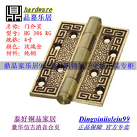 Wholesale Genuine goodlink topsystem antique copper inch thick wooden door hinge bearing real silencer HG RG