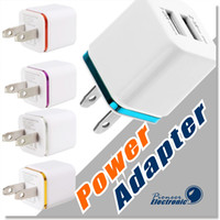 ingrosso spina di alimentazione 5v 2a-Adattatore del caricatore USB di alta qualità Caricatori da muro 5V 2A UE US Universal Plug Power Adapter AC per Iphone 6 5 4 Samsung S5 S4 Nota 4 LG HTC SONY