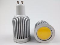 yatak odası spotları toptan satış-220 V 110 V COB LED Spot Ampuller GU10 7 W Alüminyum Oturma Odası Yatak Odası için Otel Dekoratif Lighitng Bombillas Sıcak beyaz Soğuk beyaz CE ROSH