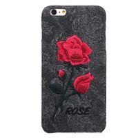 Wholesale Hard Case Iphone Elegant - Chic Rose Embroidery Retro Case Hard Art Handmade Flower Cover Elegant Phone Cover Case for Iphone 6 6s plus 7 7 plus Samsung S6 edge plus