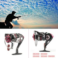Wholesale Carp Fishing Free Shipping - 12+1BB DB2000-6000 Metal Front Drag Spinning Fish Carp Reel Fishing Tackle free shipping