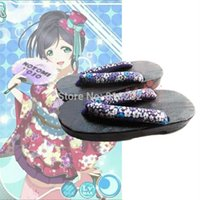 Chaussures De Colmatage En Gros Pas Cher-Wholesale-LoveLive! Love Live Geta Clog Shoes Chaussons Anime Cosplay Shoes Costumes Neuf membres