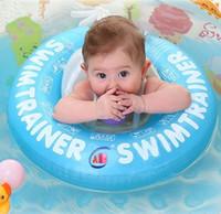 bebek boynu şamandıra halkası toptan satış-Bebek Yüzmek Halka Bebek Yüzme Daire Göbek Pedi Havuz Şamandıra Halka Bebek Swim Trainer Şişme Bebek Boyun Çevreler Çocuklar Şamandıra Koltuk